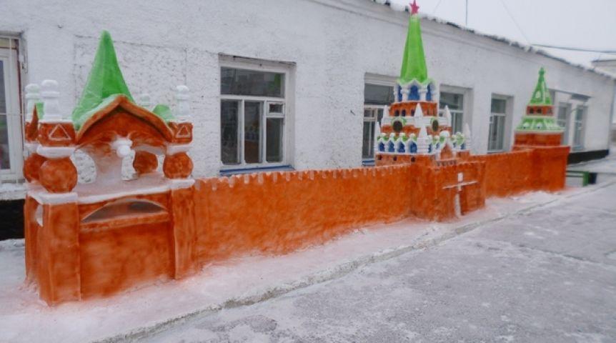 кремль из снега