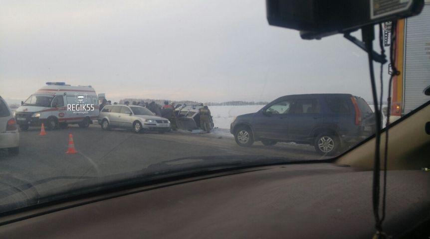 УБогословки случилось ДТП стремя авто: два человека в клинике