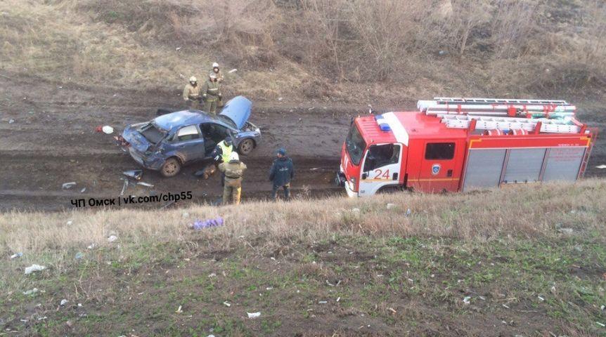 ВОмске Форд Focus с нетрезвым водителем сорвался смоста