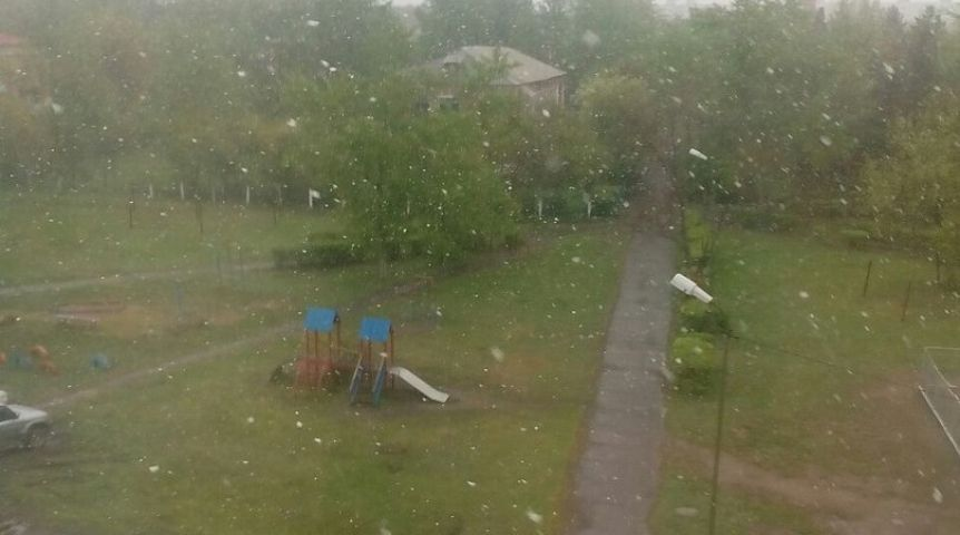 Всередине мая вОмске выпал снег