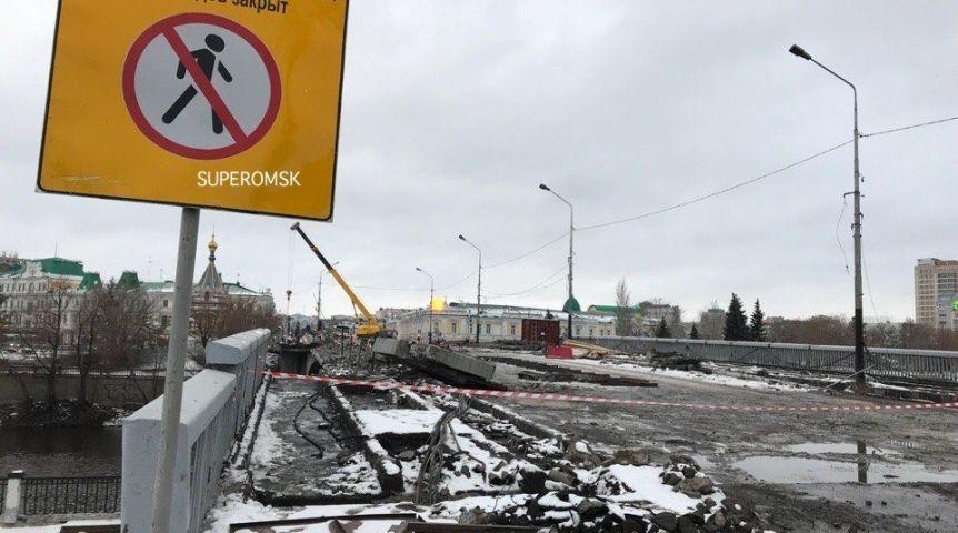 ВОмске наЮбилейном мосту закончили работы повыносу сетей
