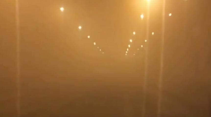Вечером вОмске резко снизилась видимость уЛенинградского моста