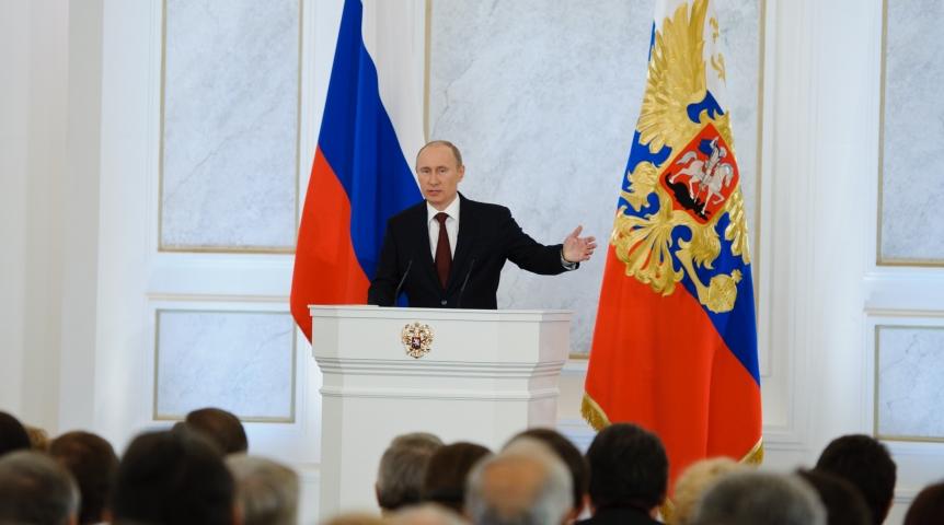 Владимир Путин 1марта выступит спосланием кФедеральному собранию