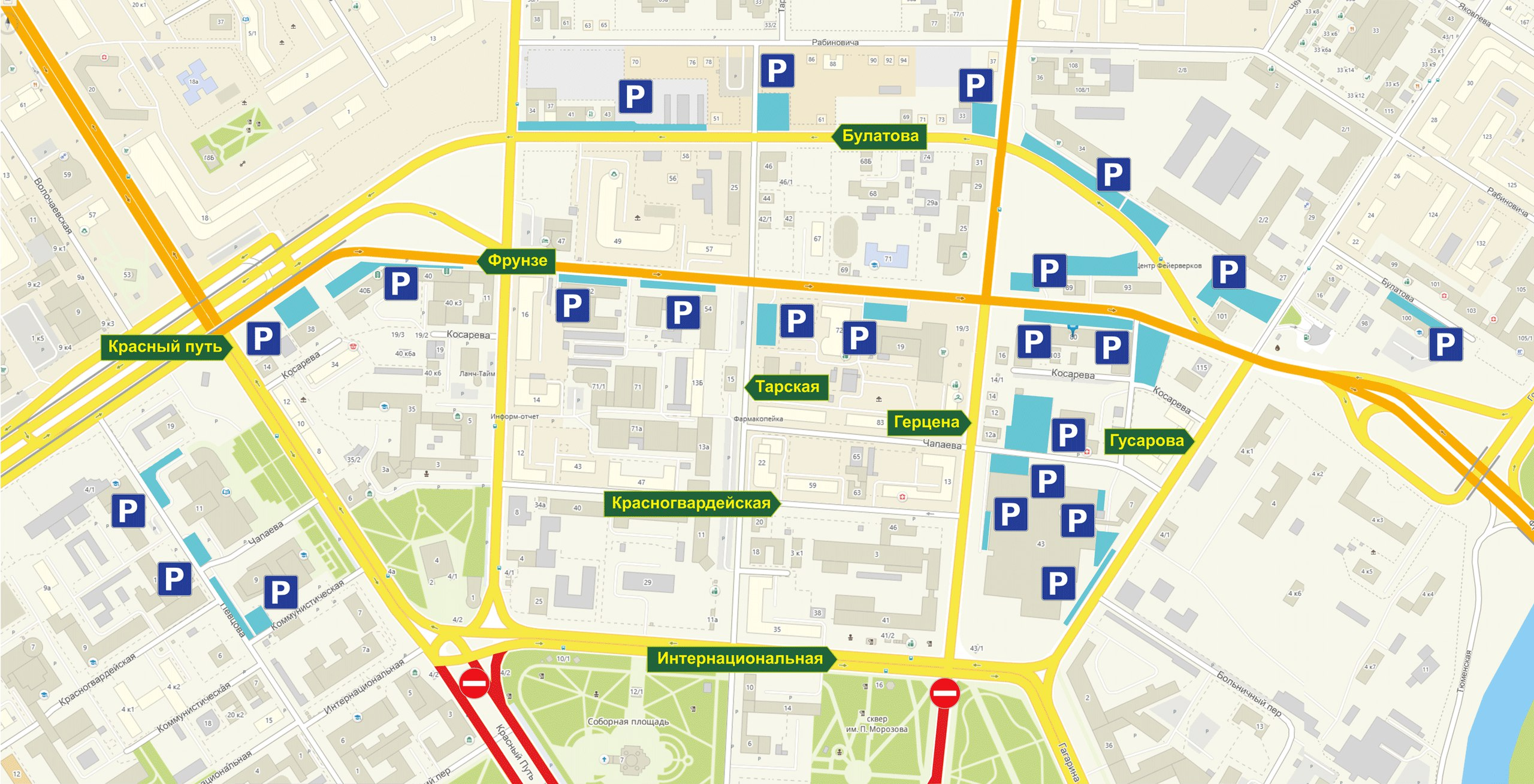 Карта схема города омска